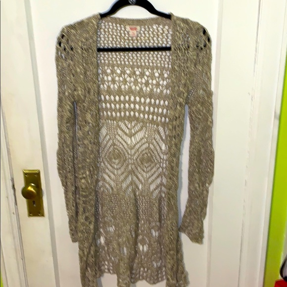Mossimo Supply Co. Crochet Duster Sweater